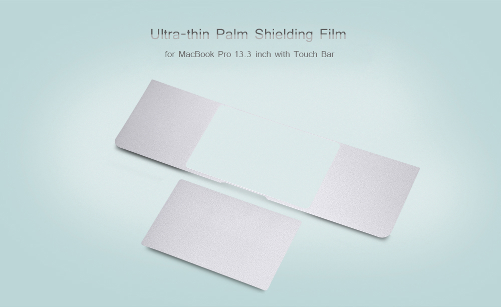 6419b35d337 Ultra-thin Half Palm Rest Shielding Film Protector for MacBook Pro 13.3  inch with Touch ...