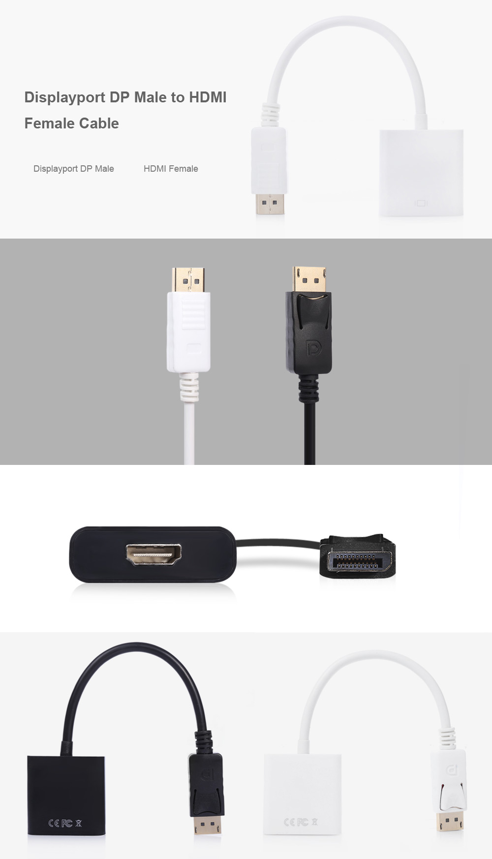 Displayport Dp Male To Hdmi Female Cable Adapter 325 Free Package Contents 1 X