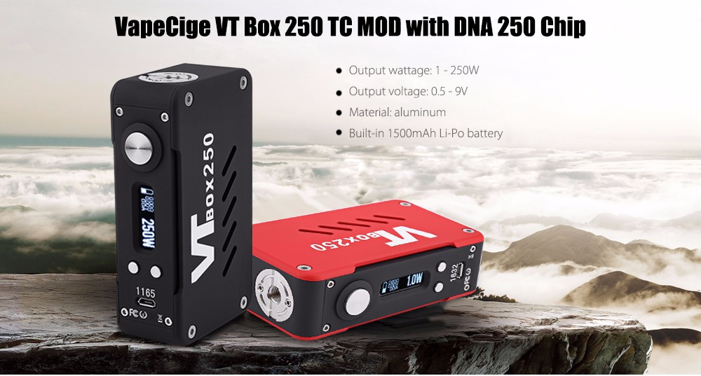 Originale VapeCige VT Box 250 TC MOD con DNA 250 Chip