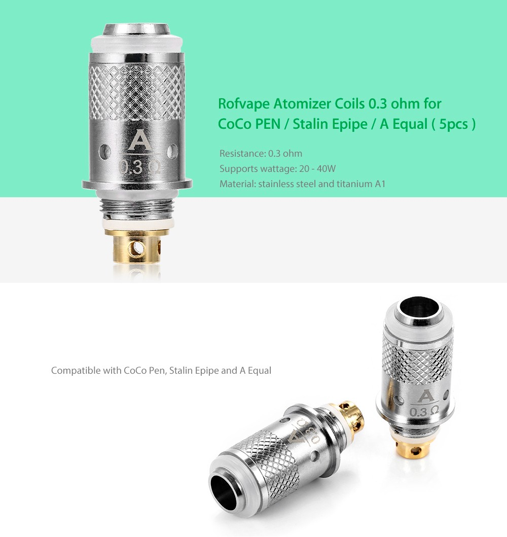 Rofvape Coils for CoCo PEN / Stalin Epipe / A Equal ( 5pcs ) - $9.70 ...