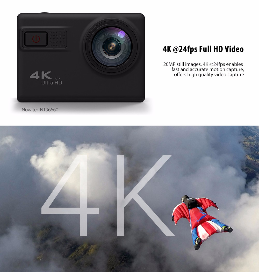 F68 4K WiFi Action Camera Novatek NT96660