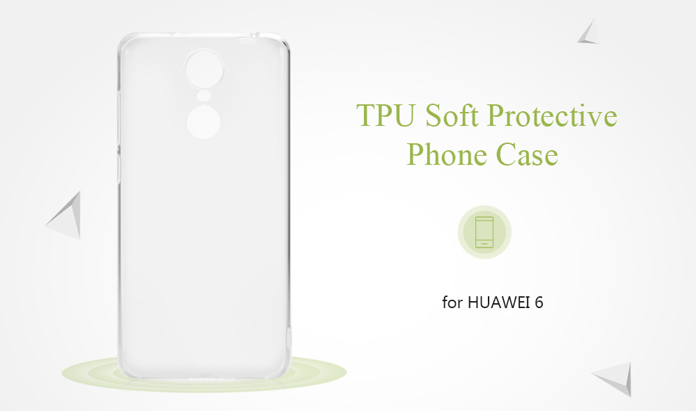 ASLING Transparent TPU Soft Case Cover Phone Protector for HUAWEI 6