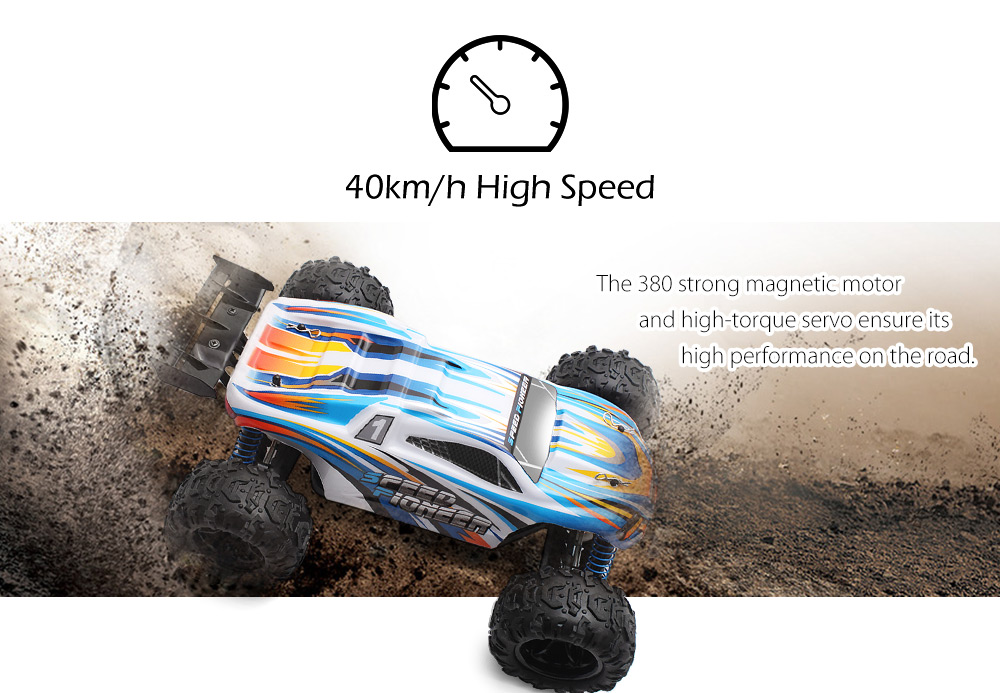 PXtoys 9302 1:18 Off-road RC Racing Car RTR 40km/h / 2.4GHz 4WD / Steering Servo- Orange