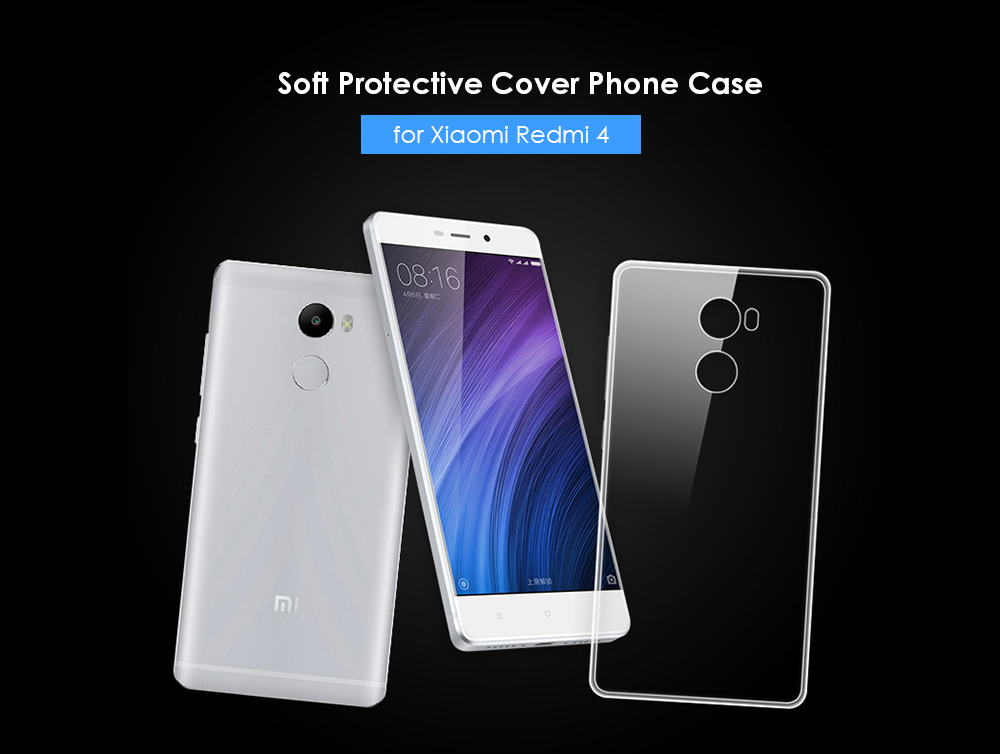 new style 83b22 1a76a ASLING Transparent TPU Phone Case for Xiaomi Redmi 4 Standard Edition