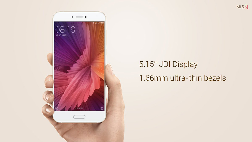Xiaomi Mi 5C 4G Smartphone 5.15 inch 2.5D Arc Screen MIUI 8 Pinecone V670 Octa Core 2.2GHz 3GB RAM 64GB ROM 8.0MP + 12.0MP Cameras Fingerprint Scanner