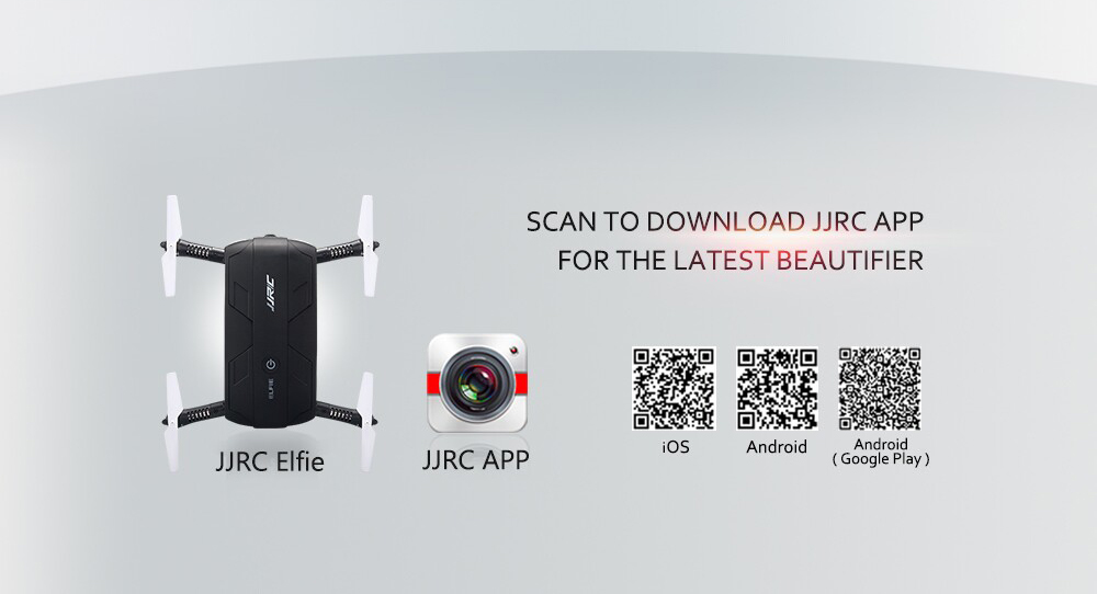 JJRC H37 ELFIE Foldable Mini RC Selfie Quadcopter WiFi FPV / 480P HD / G-sensor / Headless Mode