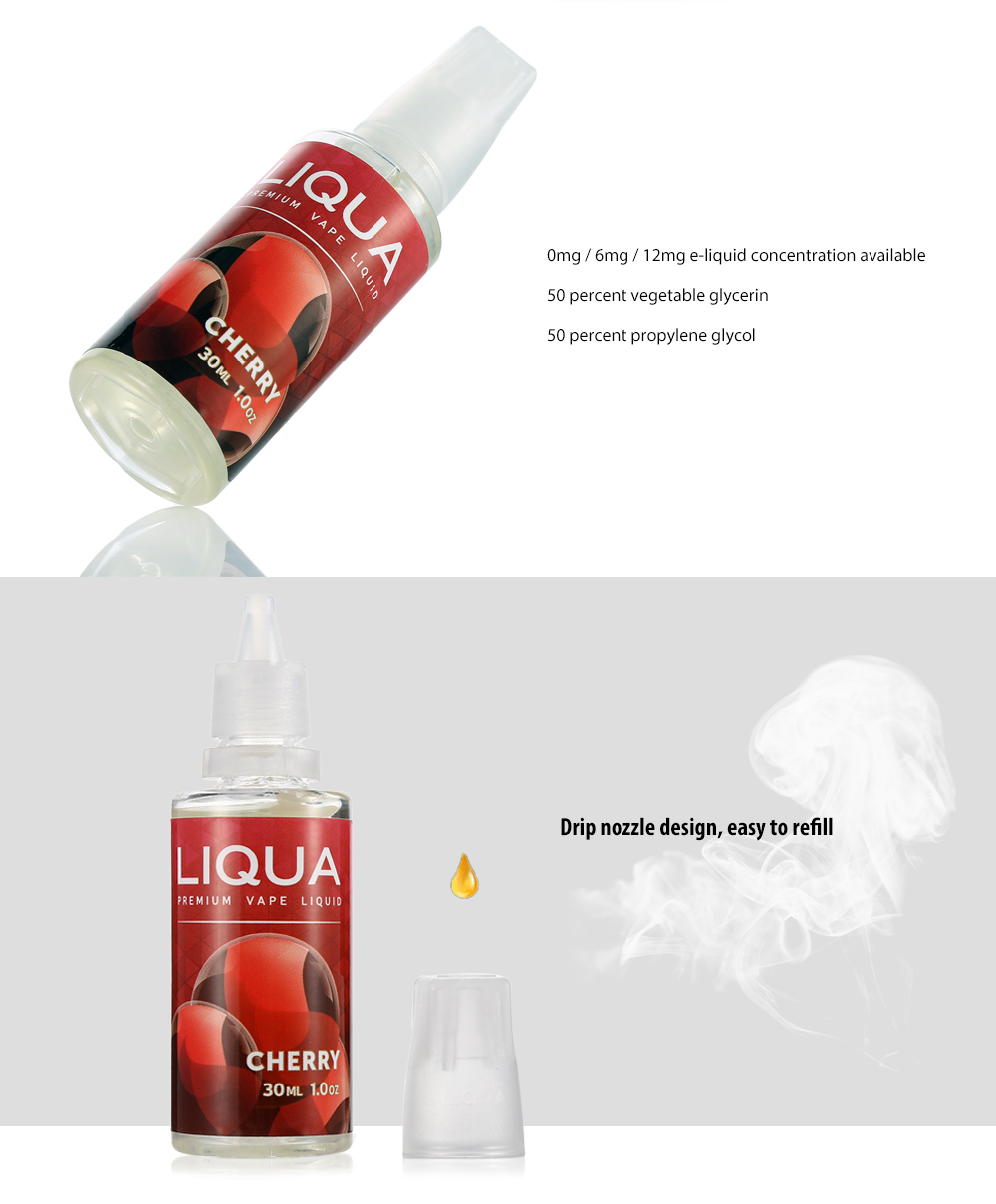 LIQUA Liqua C Series Cherry E-Liquid for E Cigarette