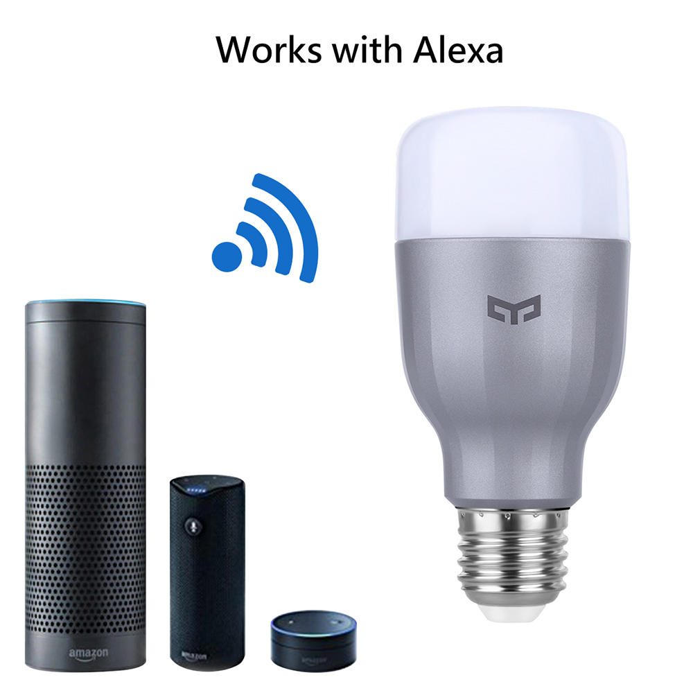 Xiaomi Yeelight RGBW Smart LED Bulb WiFi Enabled 16 Million Colors CCT Adjustment Support Google Home