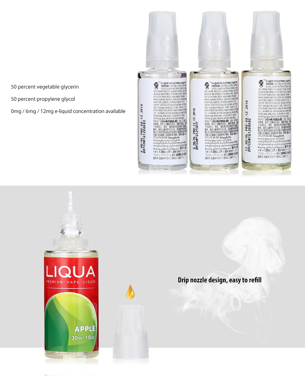 LIQUA Liqua C Series Apple E-Liquid for E Cigarette