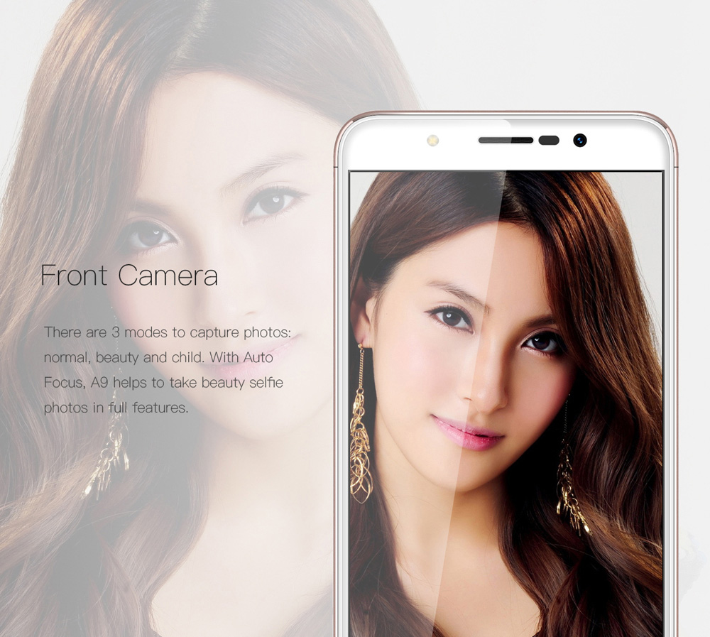Gretel A9 4G Smartphone 5 0 inch Android 6 0 MTK6737 Quad Core 1 25GHz 2GB  RAM 16GB ROM Fingerprint Scanner Full Metal Body