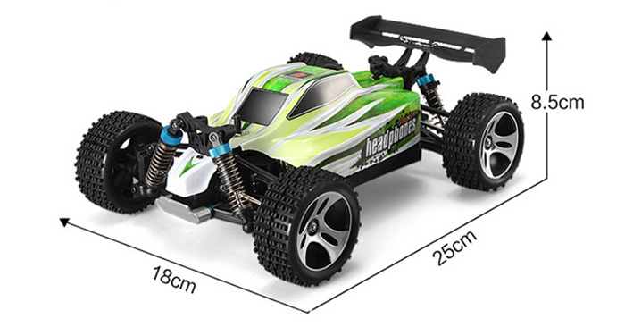 WLtoys A959 - B 1 / 18 70km/h 4WD Off-road Vehicle 2.4G 540 Brushed Motor High Speed RC Car