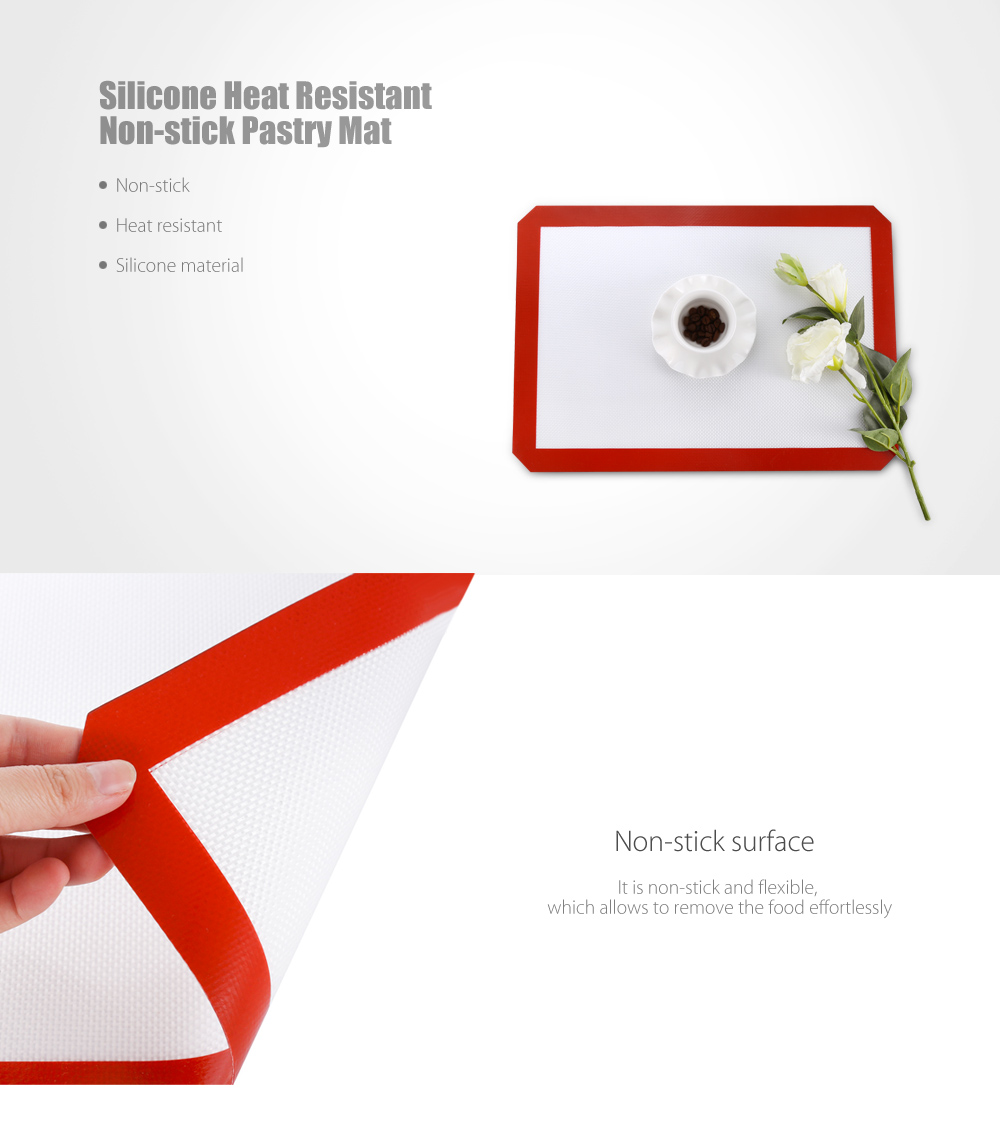 Silicone Heat Resistant Non Stick Pastry Mat 7 Online