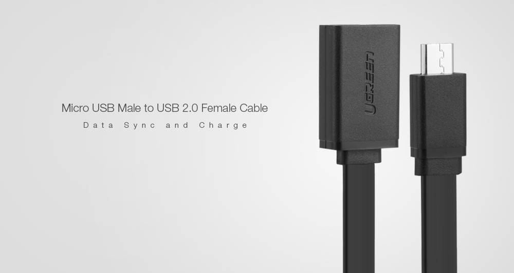 UGREEN US133 Micro USB to USB 2.0 Female OTG Data Sync Charging Cable