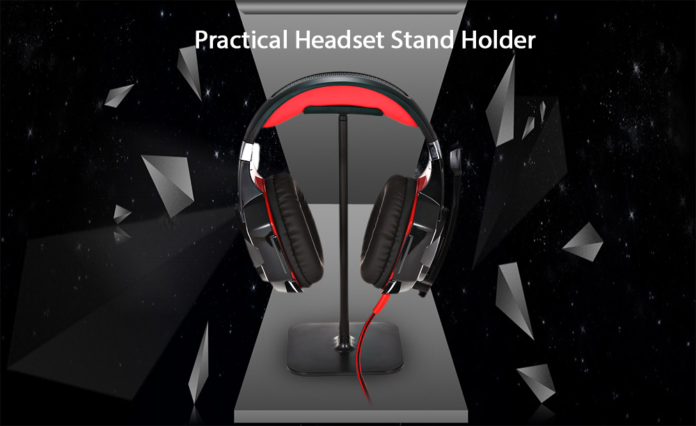 Practical Aluminium Alloy Headphones Headset Holder Matte Style Stand