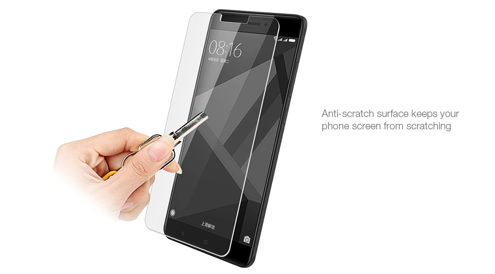 Tempered Glass Screen Protector 9H Film for Xiaomi Redmi 4X- Transparent