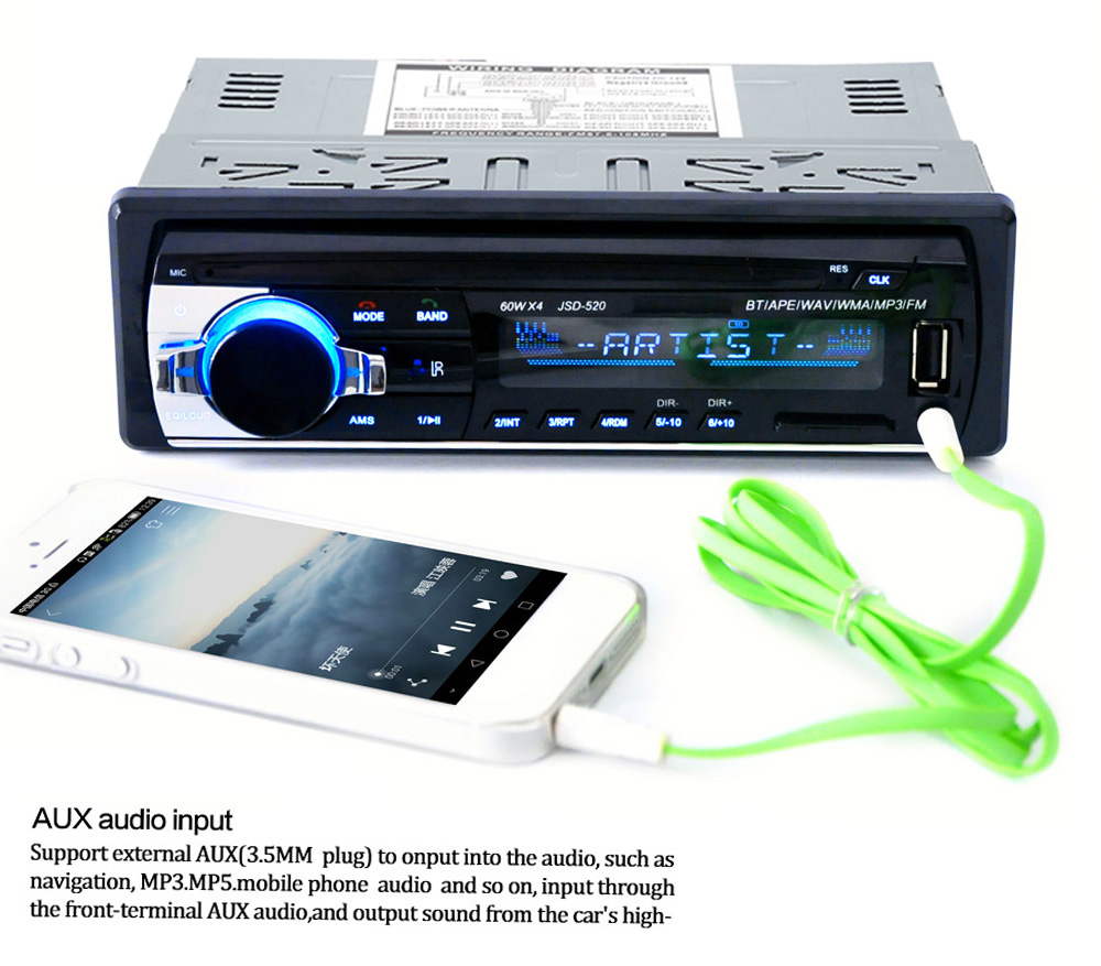 520 Bluetooth Car Audio Stereo MP3 Player Radio -$20