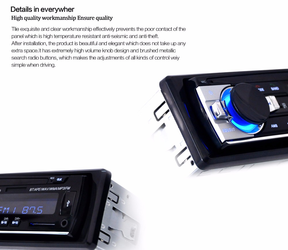 Jsd 520 12v bluetooth v2 0 car stereo audio in dash single din