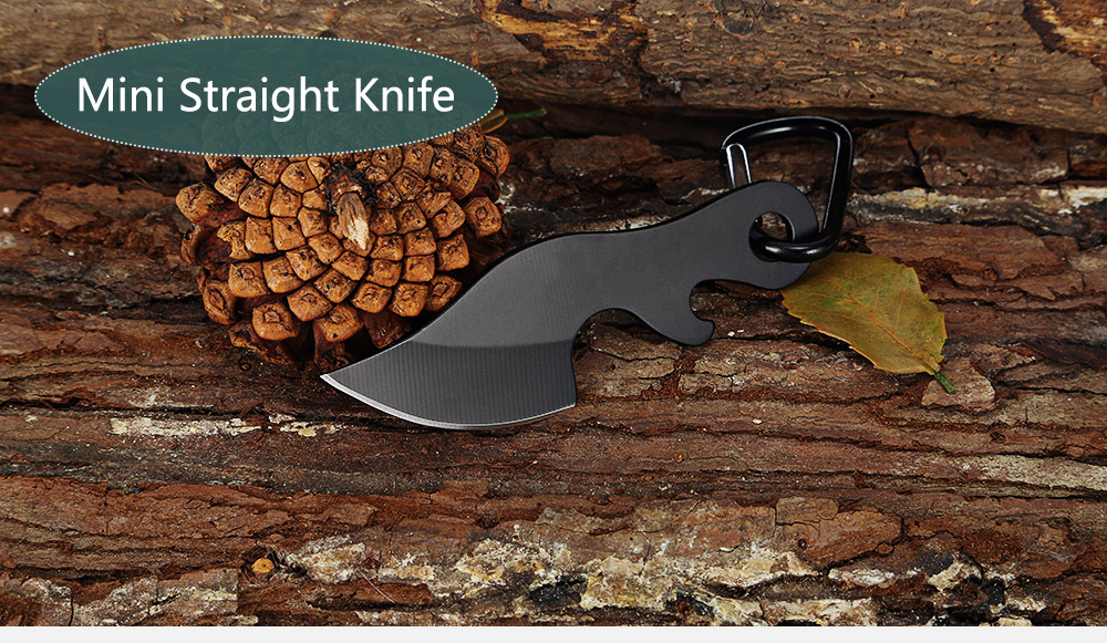 Mini Straight Knife Bottle Opener with Key Buckle / Pouch