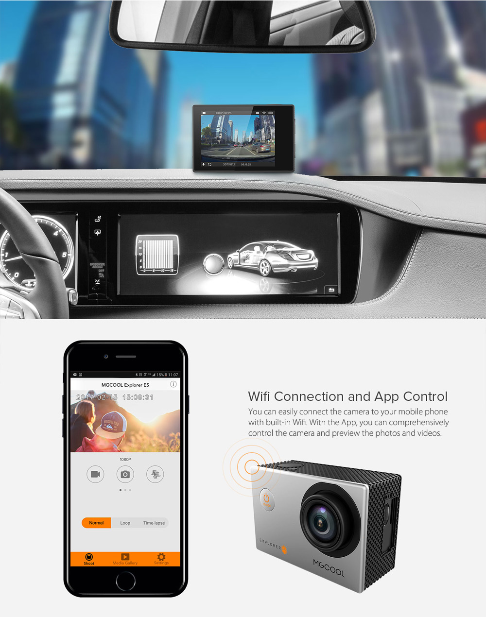 MGCOOL Explorer ES 3K WiFi Action Camera Allwinner V3