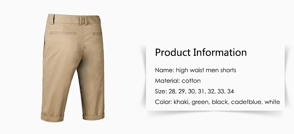 Casual Straight Half High Waisted Shorts for Men