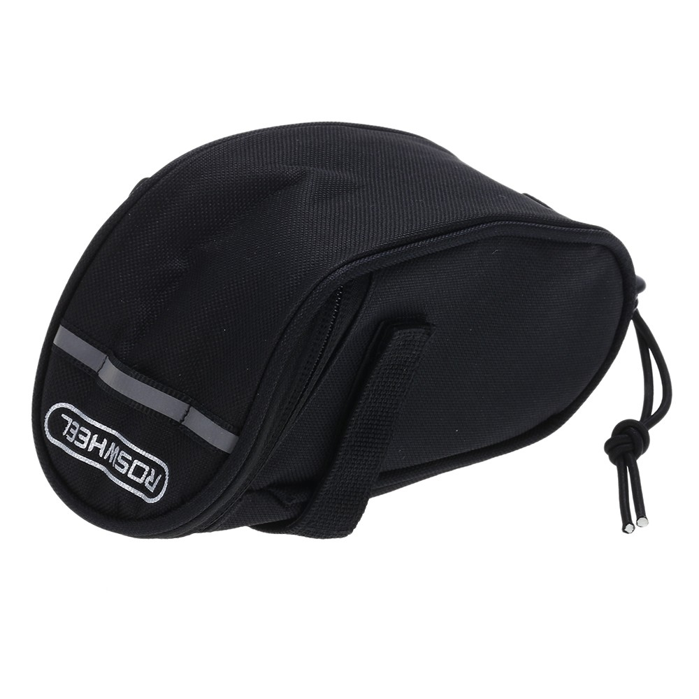 Roswheel 13567 Outdoor Cycling Mountain Bike Bicycle Saddle Bag Seat Tail Pouch- Black