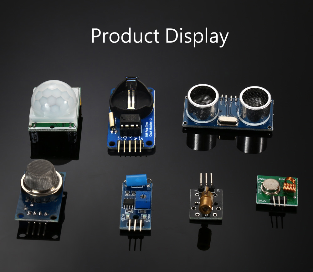 DIY 16 in 1 Sensor Module Kit for Raspberry Pi