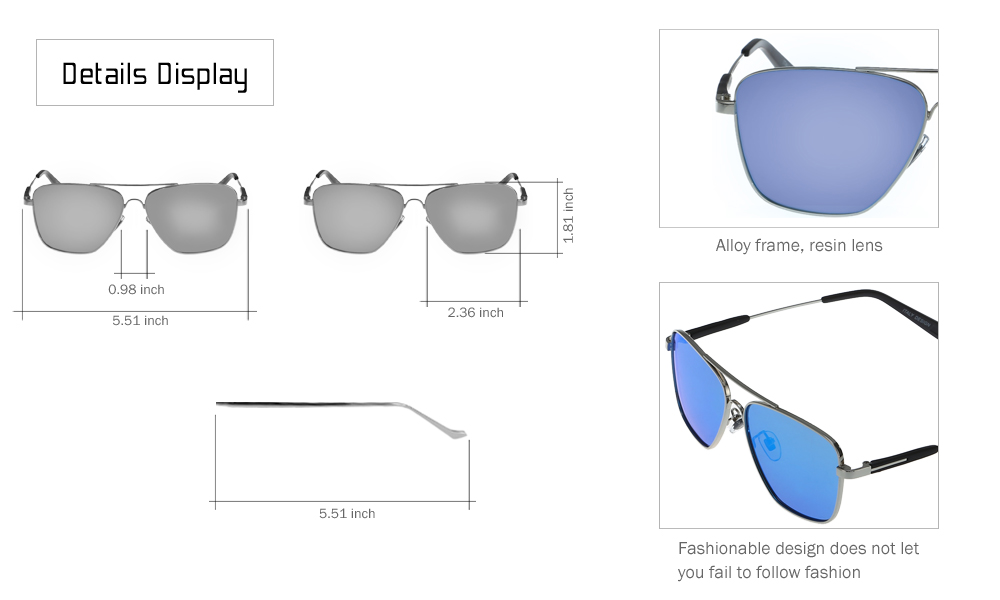 YiKang Y9364 - 140 Fashion Polarized Sunglasses for Men