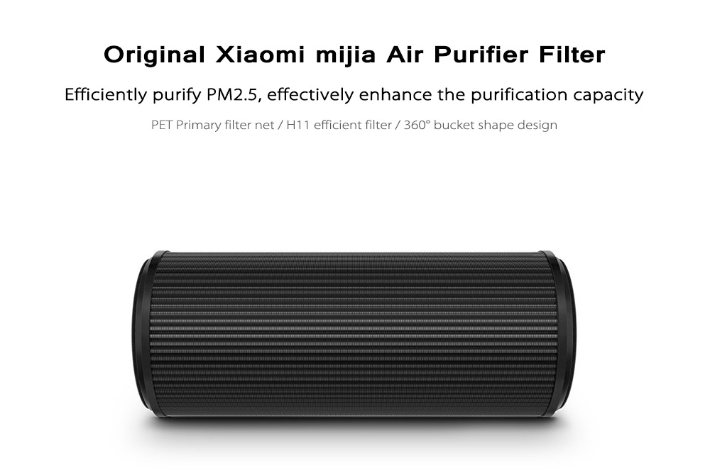 Original Xiaomi mijia Air Purifier Filter with 360 Degree Bucket Shape Design- Black
