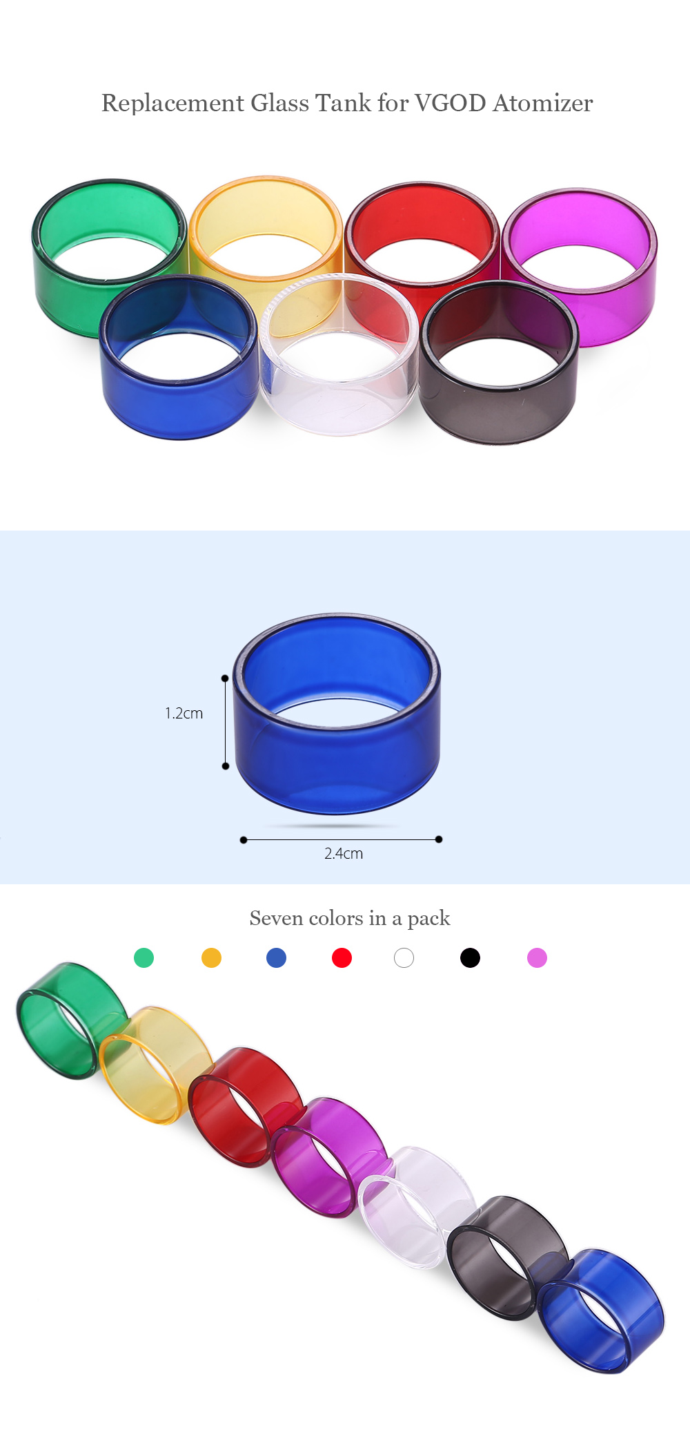 Replacement Glass Tank For Vgod Atomizer 410 Free Shipping Bundle 10pcs Steam Wallet Idr 90000 E Cigarette Accessory Multicolor