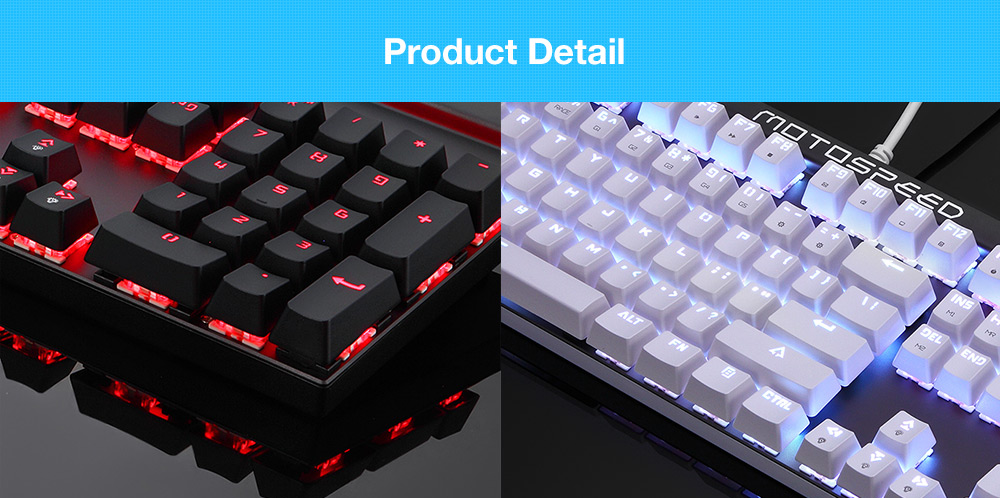 Motospeed CK103 NKRO RGB Backlight USB Mechanical Keyboard