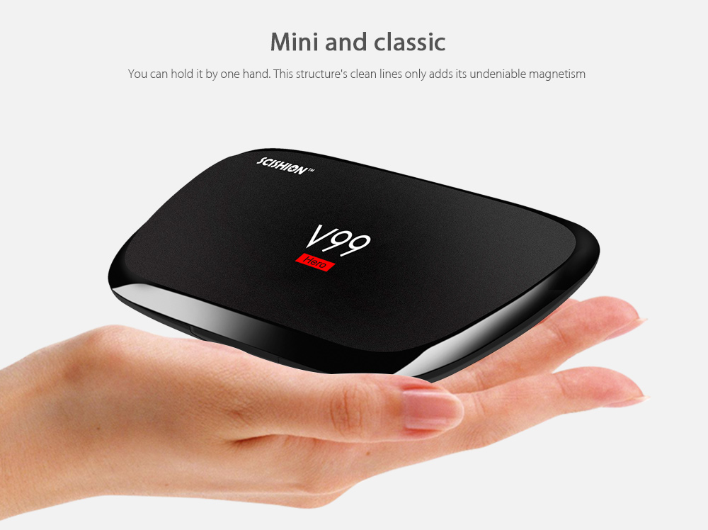 SCISHION V99 - hero Android H.265 4GB + 32GB TV Box