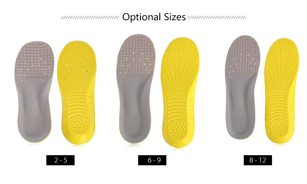Outdoor Cuttable Shock-resistant PU Foaming Running Insoles Shoes Pads