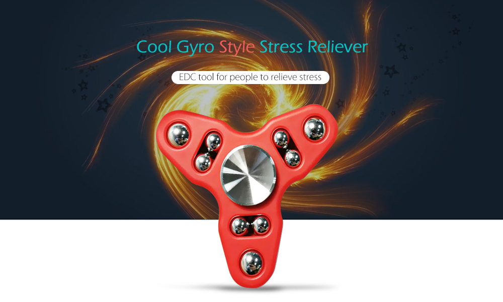 Triangle Gyro Style Stress Reliever Pressure Reducing Toy for Office Worker
