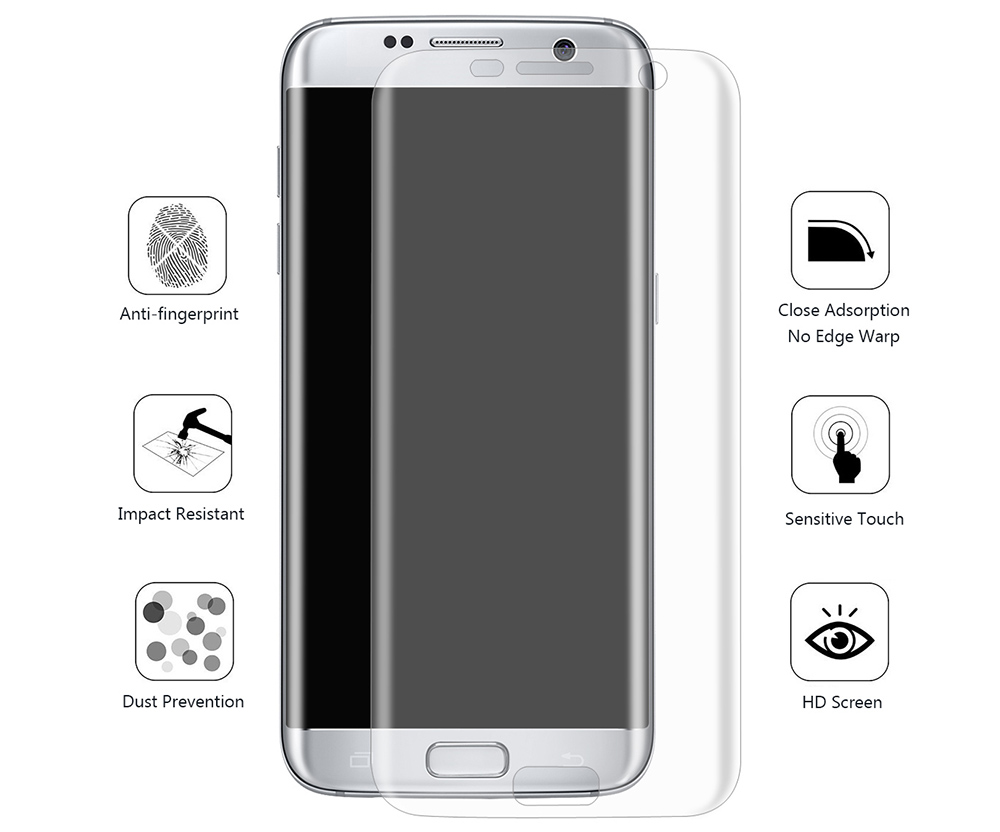 Hat Prince Ultra-thin Soft Screen Water Condensate Film 3D Protector for Samsung Galaxy S7 Edge