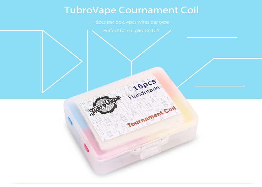 Original TubroVape Cournament Coil with 4 Types ( 16pcs/pack ...