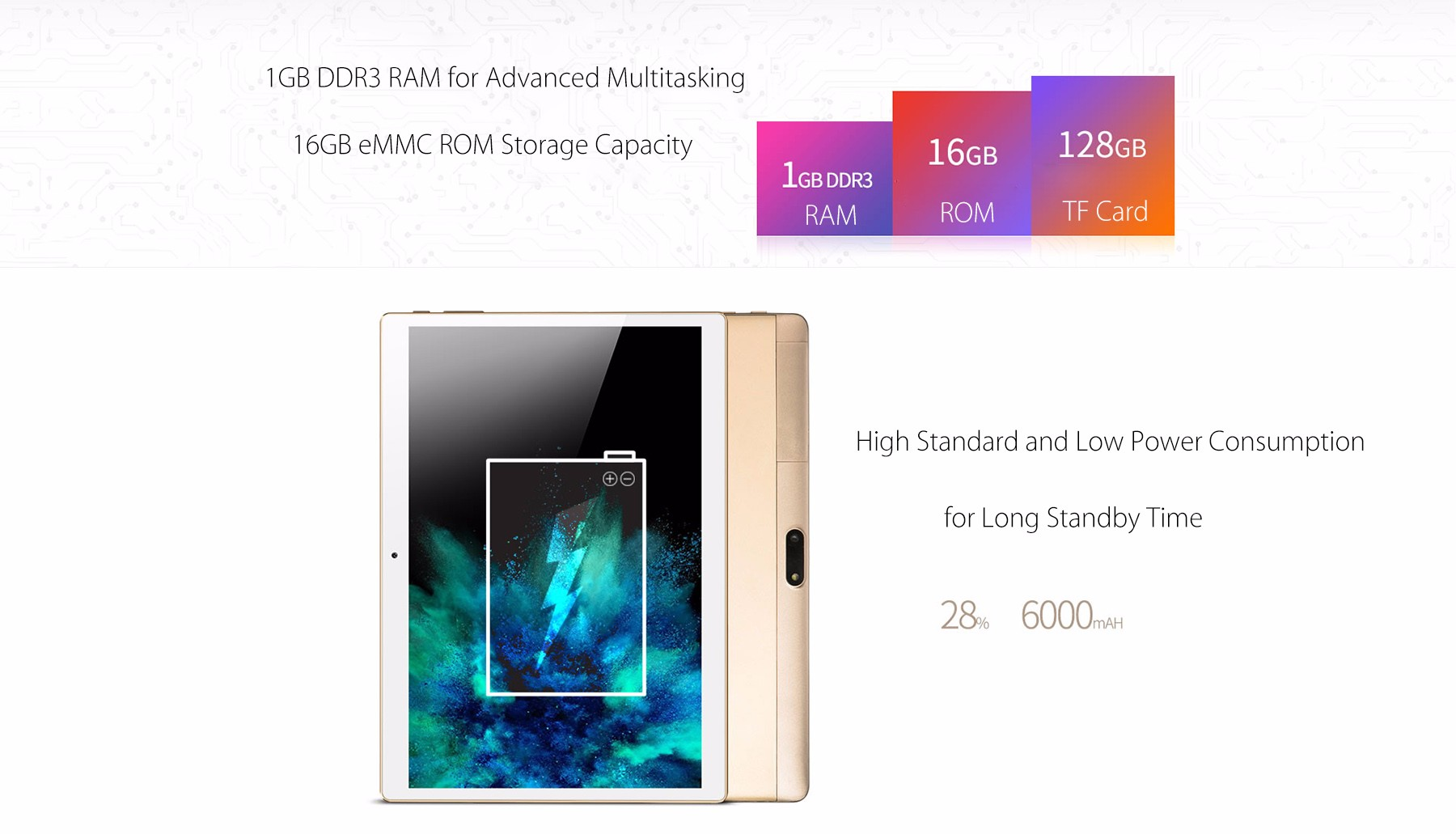 Onda V10 4G Phablet 10.1 inch IPS Screen Android 5.1 MTK6735 1.3GHz Quad Core 1GB RAM 16GB eMMC Dual Cameras GPS FM Bluetooth 4.0