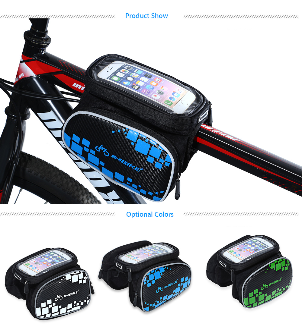 2.4L Electric Scooter Front Storage Bag Bike Car//Bicycle Head Handle Bag Pouch