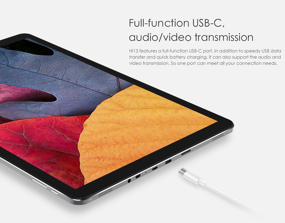 CHUWI Hi13 13.5 inch 2 in 1 Tablet PC Windows 10 Intel Apollo Lake Celeron N3450 Quad Core 1.1GHz 4GB RAM 64GB ROM Dual WiFi Cameras OTG