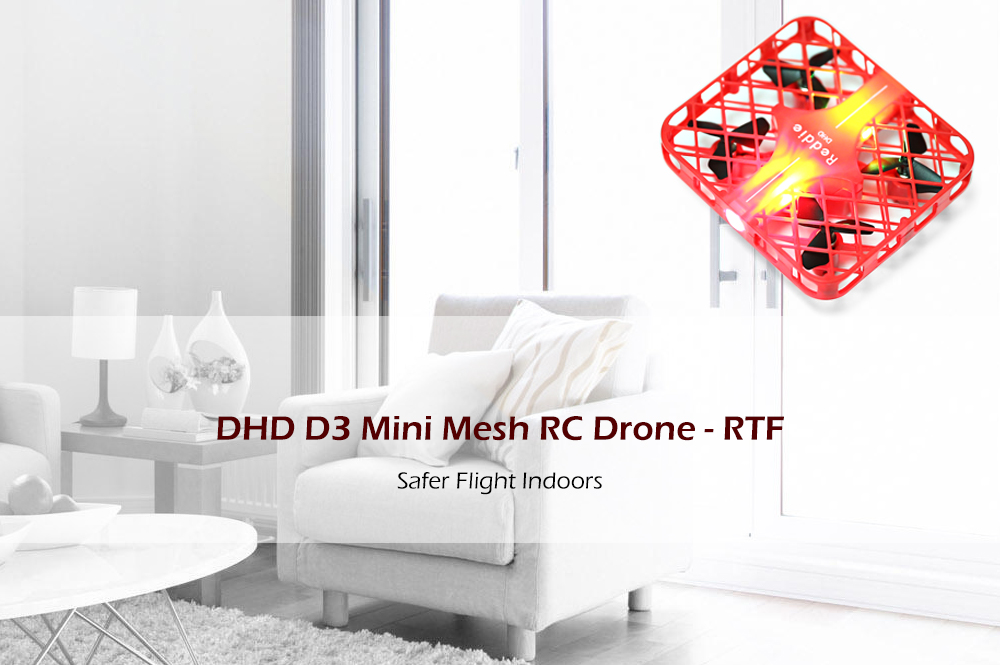DHD D3 Mini Mesh RC Quadcopter RTF 2.4GHz 4CH 6-axis Gyro / One Key Return / Headless Mode