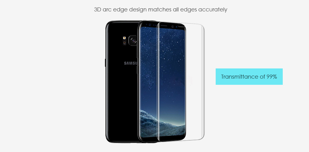ASLING 3D Arc Tempered Glass Full Cover Screen Film for Samsung Galaxy S8 Explosion-proof Protector
