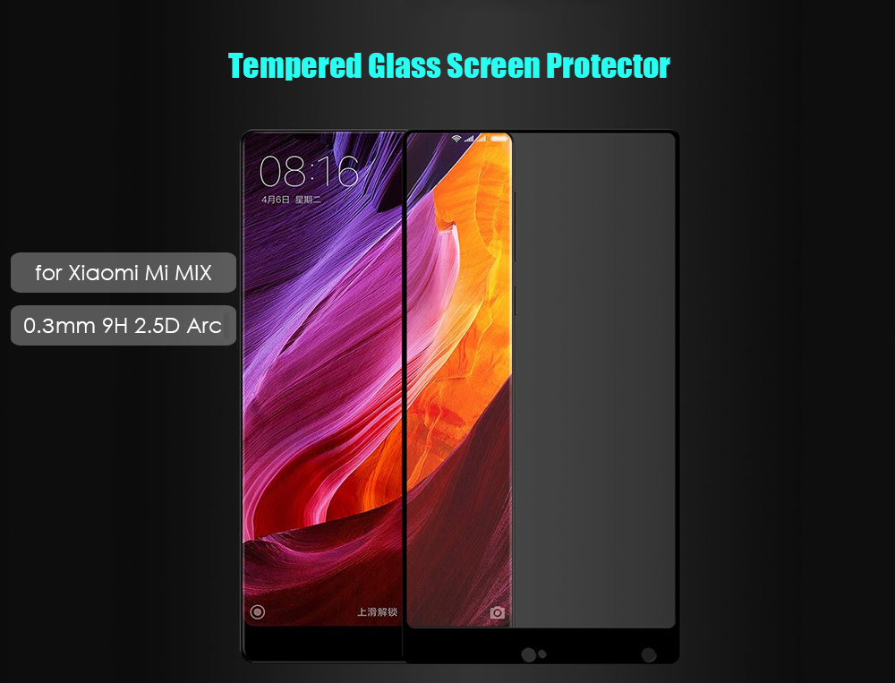 Luanke Privacy Cool Anti Glare Shatterproof Clear Anti-fingerprint Tempered Glass Full Cover Screen Protective