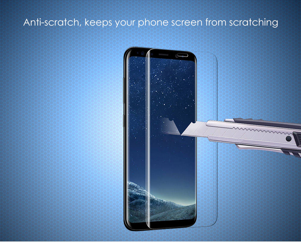 ASLING 3D Arc Tempered Glass Full Cover Screen Film for Samsung Galaxy S8 Plus Explosion-proof Protector