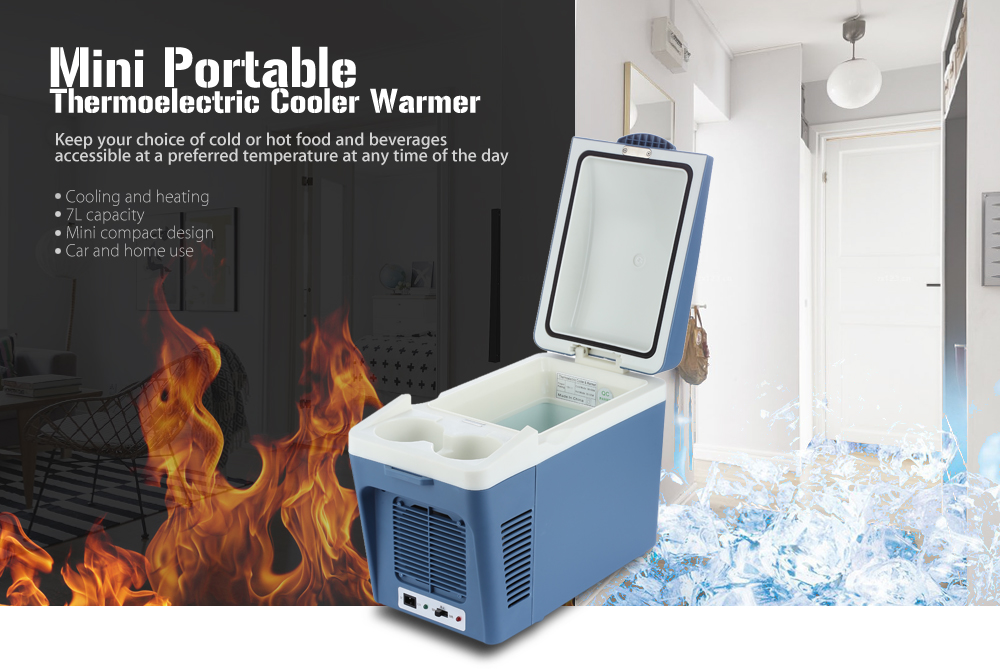 CW1   7L Mini 7L Thermoelectric Cooler Portable Refrigerator Warmer For Car