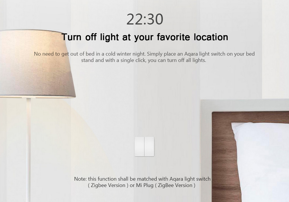 Aqara WXKG02LM Smart Light Switch Wireless Version ( Xiaomi Ecosystem  Product )