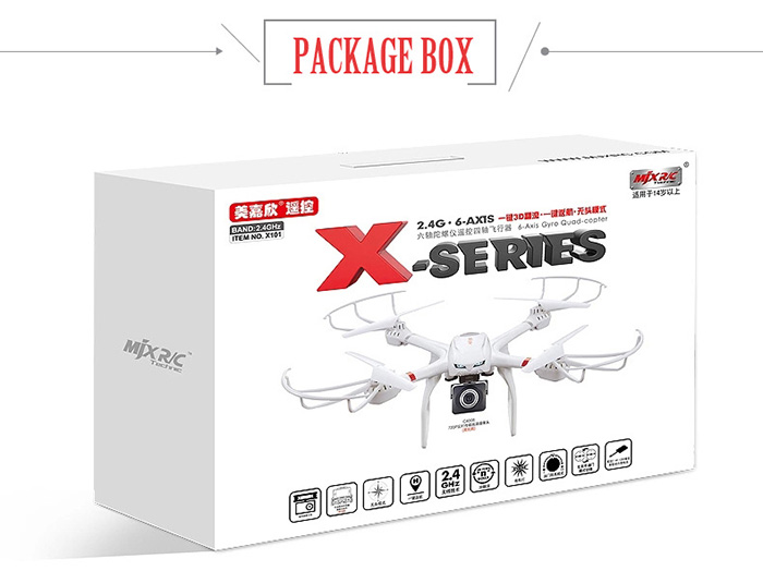MJX X101 2.4GHz 6 Axis Gyro RC Quadcopter with 3D Roll Stumbling Function- White
