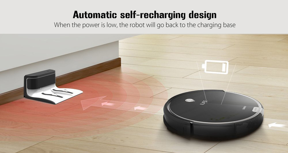ILIFE A6 Smart Robotic Vacuum Cleaner Cordless Sweeping Cleaning Machine Self Recharging Robot