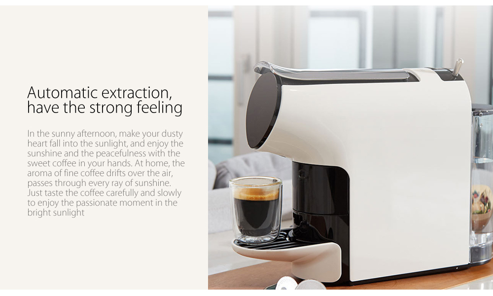 SCISHARE 19-bar Capsule Automatic Coffee Maker Espresso Machine