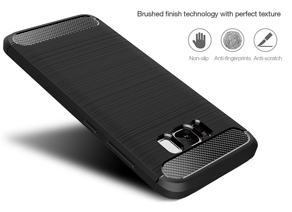 Luanke Brushed Finish Back Case Protector for Samsung Galaxy S8 Plus