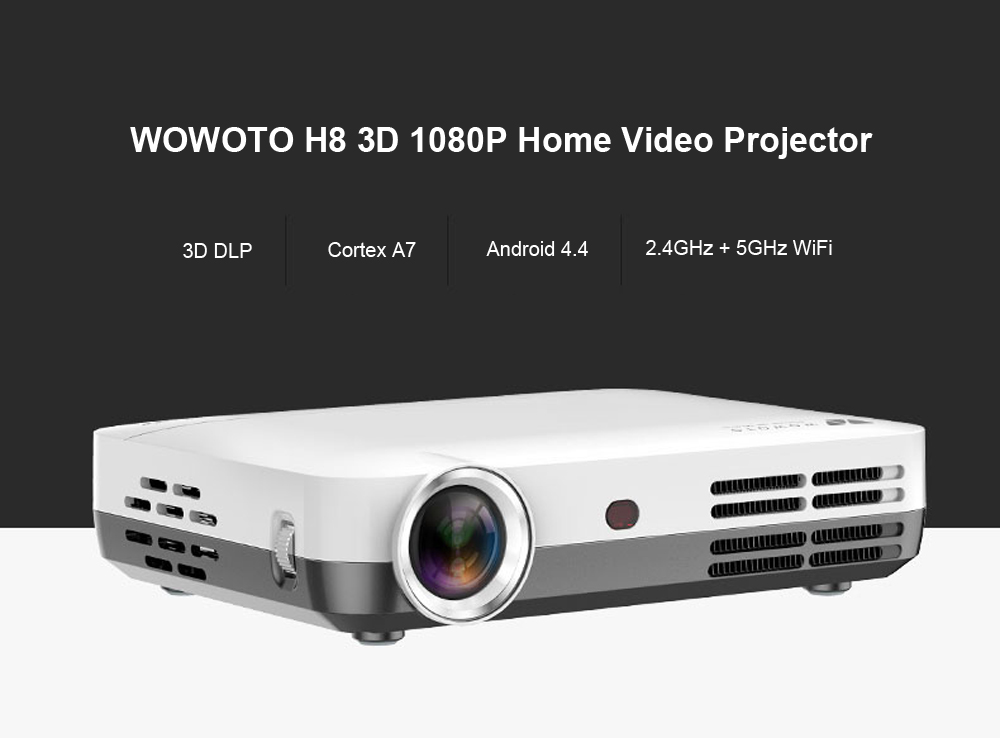 WOWOTO H8 Home Theater Video DLP Projector US PLUG-$0 Online