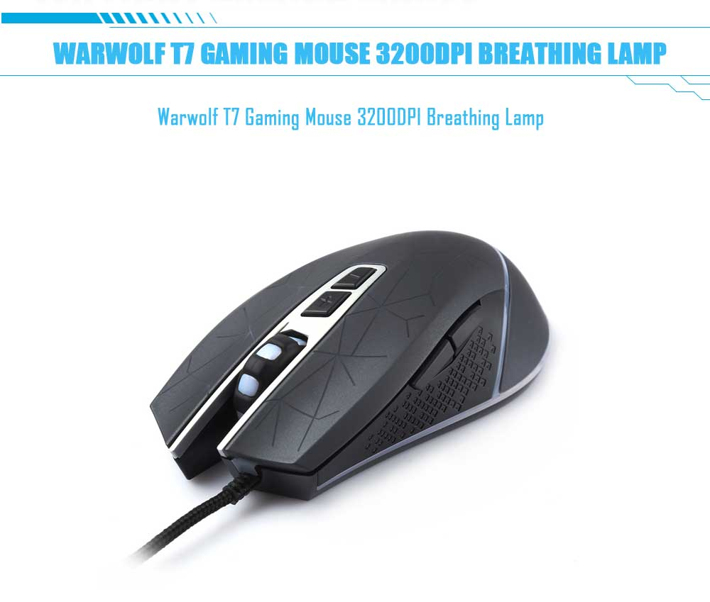 Warwolf T7 Gaming Mouse 3200DPI Breathing Lamp